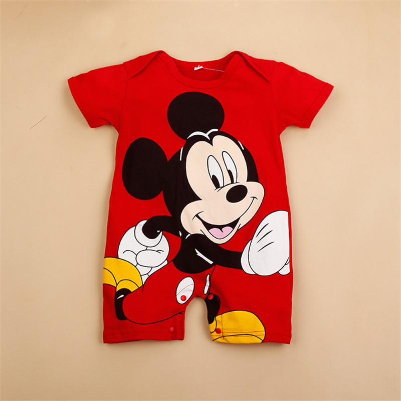 1e8e97ee1a77 Summer Baby Boy Clothes Infant Short Sleeved Cartoon Romper Girl ...