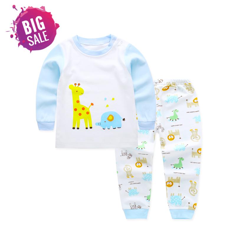 e2fa013c60edc Children Clothing Set Pajamas Sets Kids Girls T-shirt Pants Kit Suit ...
