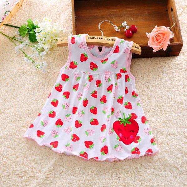 9585c3e6fcf Cute Vestido infantil Baby Girl Dress Cotton Regular Sleeveless A ...