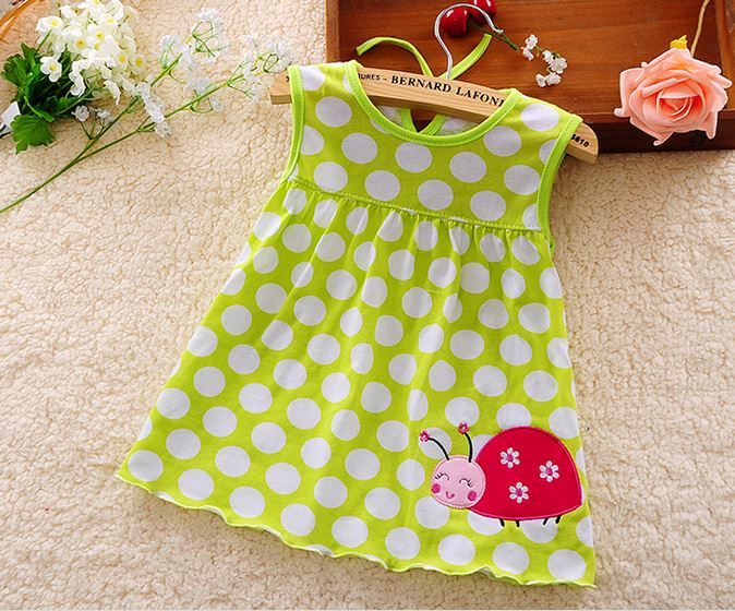 Cute Vestido Infantil Baby Girl Dress Cotton Regular Sleeveless A