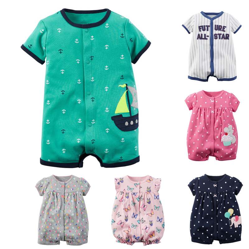 498a0f73c7d6 Baby Rompers Summer Baby Girl Clothes Baby Boys Clothing Sets Short ...