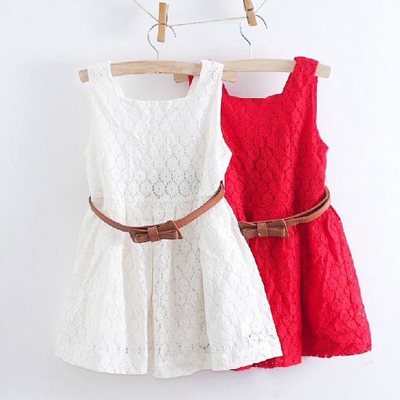 1b18b84db0d4 ... Summer Lace Vest Girls Dress Baby Girl Princess Dress 2-8 Years Children  Clothes For Girls Free Belt. 🔍. prev