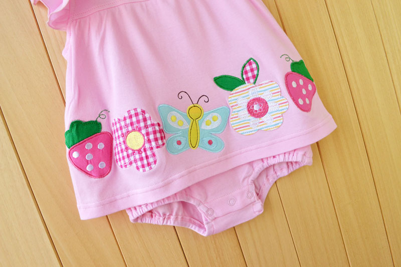Baby Girl Rompers Summer Girls Clothing Sets Roupas Bebes Flower