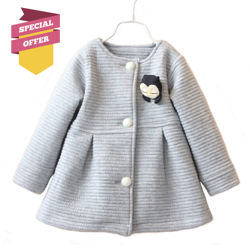 Autumn Spring Children Jackets Baby Little Penguin Single Breasted