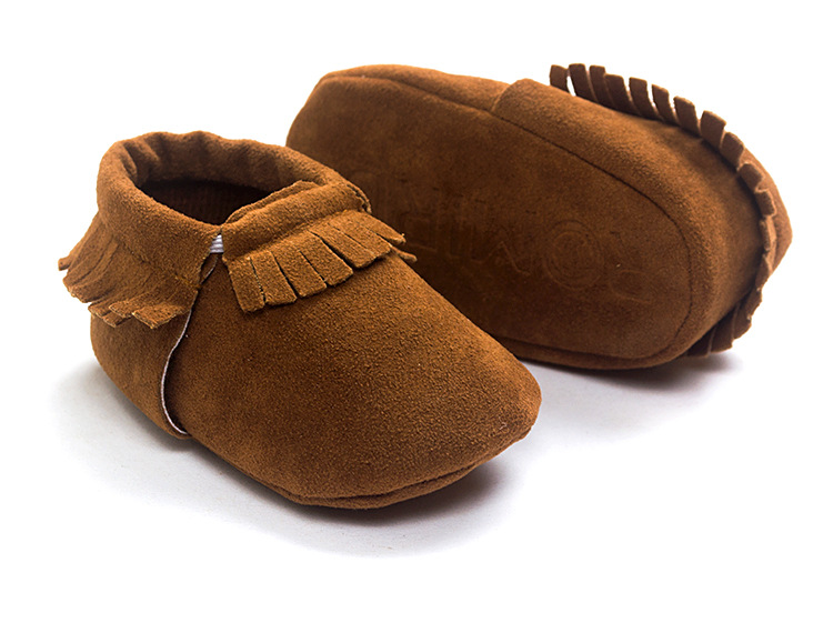 New Baby Newborn Classic Solid Fringe First Walkers Moccasins Soft Moccs Shoes